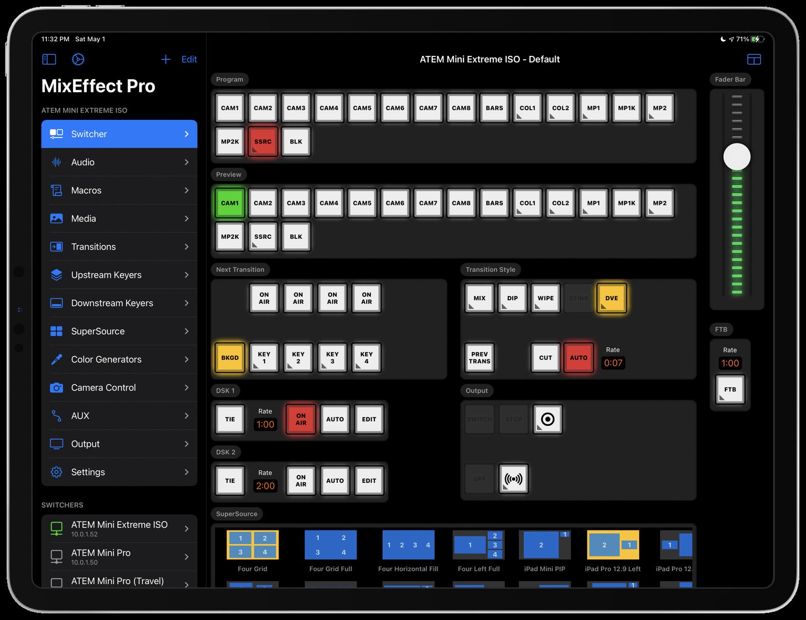 MixEffect on iPadOS